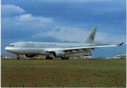 Thème -  Avion - Postcard N° 635 - Qatar - A330 203 - Paris CDG 2003 - 1946-....: Moderne