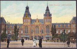 Ansichtkaart Amsterdam Rijks Museum  Stempels  7-8--1913  Van Amsterdam Naar Poeldijk - Non Classés