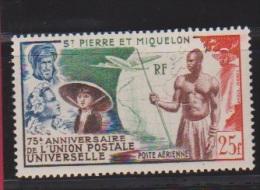 Saint Pierre Et Miquelon  // 25 Francs Bleu  // N 21  // Côte 20 € //  Poste Aérienne //  NEUF ** - St.Pierre & Miquelon