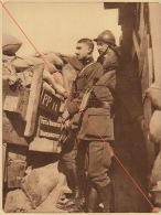 Planche Du Service Photographique De L'armée Belge WW1 Guerre Officier Poste D'observation à Merckem - 1914-18