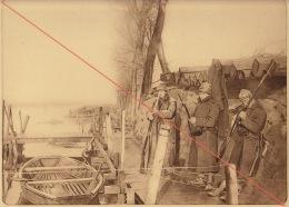 Planche Du Service Photographique De L´armée Belge WW1 Guerre Poste D'attaque à Noordschoote - 1914-18