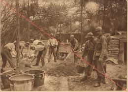Planche Du Service Photographique De L´armée Belge WW1 Guerre Travaux De Bétonnage à Steenstraete - 1914-18