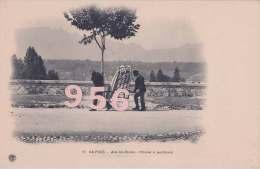 CPA * * AIX-les-BAINS * * Chaise à Porteurs -   Collection Du TOURING-CLUB De France - Aix Les Bains