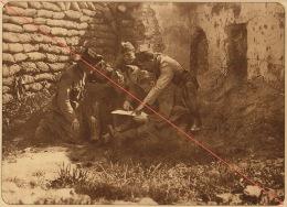 Planche Du Service Photographique De L´armée Belge WW1 Guerre Préparation D'une Patrouille - 1914-18