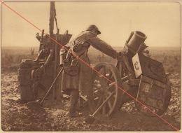 Planche Du Service Photographique De L´armée Belge WW1 Guerre Canon Allemand Offensive Octobre 1918 - 1914-18