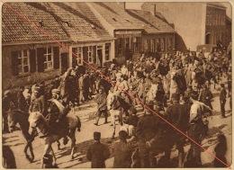 Planche Du Service Photographique De L´armée Belge WW1 Guerre Prisonnier Allemand Goumier Arabe à Ghyverinnchove - 1914-18
