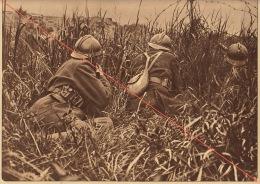 Planche Du Service Photographique De L´armée Belge WW1 Guerre Patrouilleur Berge De L'yser - 1914-18