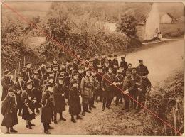 Planche Du Service Photographique De L´armée Belge WW1 Guerre Inspection Du General Bertrand à Coutances - 1914-18