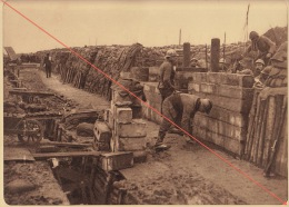 Planche Du Service Photographique De L´armée Belge WW1 Guerre Abri En Béton Armé Touché Par L'artillerie - 1914-18