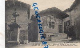 01 - SAINT SORLIN EN BUGEY - LEGENDE DE SAINT CHRISTOPHE   FRESQUE DU XVE SIECLE REMISE AU JOUR EN 1910 - Trévoux