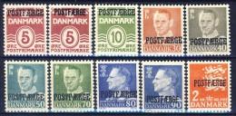 ##G822. Denmark 1942-72. POSTFAERGE. Lot (10 Items). MNH(**) - Colis Postaux