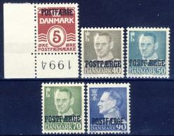 ##B523. Denmark 1955-70. POSTFAERGE. Lot (5 Items). MNH(**) - Colis Postaux