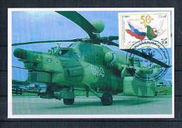 Carte Maximum 2012 Coopération Militaire,La Russie /Algérie / Hélicoptères - Hubschrauber
