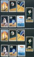 3130 - GUINEA - Mi.Nr.542-548 IA, IB, IIA, IIB (Weltraum), 4 Postfrische Sätze - 2 Perf. And 2 Imperf. Mnh Sets SPACE - Africa