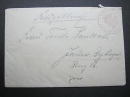 1914, Feldpostbeleg Mit Siegel  Jauer - Duitsland