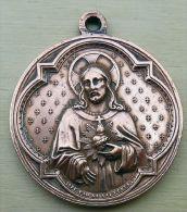 Med-0266Imposante Médaille Ancienne Signée Pénin à Lyon - Religión & Esoterismo