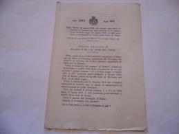 CHE ESTENDE ALLA CITTà DI CATANIA LE DISPOSIZIONI A FAVORE DELLA CITTà DI ROMA   REGIO DECRETO 1913 - Decreti & Leggi