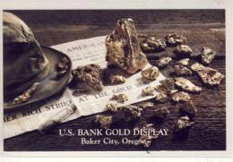 GOLD Nugget - U.S. Bank Gold Display, Baker City, Oregon - Bancos