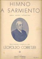 """PARTITURA-SHEET """"HIMNO A SARMIENTO"""" PARA VOCES INFANTILES- FOR CHILDREN´S VOICES. DE-BY LEOPOLDO CORRETJER. GECKO - Scores & Partitions"""