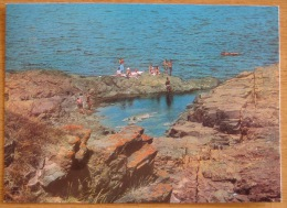 Bulgaria - Ahtopol Akhtopol Achtopol The Rocks Die Felsen Les Rochers Mailed 1980 - Bulgaria