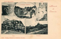[DC6805] CANOSSA (REGGIO EMILIA) - RICORDI DI CANOSSA - BOSSENA - RUPE - FONTE BATTESIMALE CRIPTA - Old Postcard - Reggio Emilia