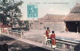 ANNAM (Indochina), Haè - Cour Interieur Dane Le Palais, Karte Gel.190?, Marke Vorderseitig, Gute Erhaltung - China
