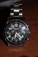 MONTRE  BRACELET  MARQUE  POLICE   AVEC  TACHYMETRE         MODELE  NEUF - Horloge: Modern