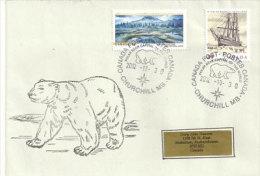 CANADA. Ours Polaire, Enveloppe De La Capitale Des Ours Polaires, A Churchill, Baie D´Hudson. Arctique Canadien - Bären