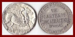 TUNISIE Jeton Carthage Décadrachme IIIè Avt JC Collection BP Trésor Des Monnaies Antiques TTB Publicité Pièce Monnaie - Royaux / De Noblesse