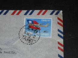 LETTRE FORMOSE FORMOSA TAIWAN AVEC YT 377 - AVIATION POSTALE AVION DRAPEAU - - 1945-... République De Chine