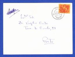 ENVELOPE  -- CARIMBO PERFEITO - CTT . FUNDÃO - 24.DEZ.65 - 1910-... República