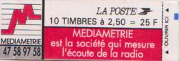 Carnet  MARIANNE BRIAT 10 Timbres à 2.50 MEDIAMETRIE YT 2720-C3 DATE 08.02.93 (fermé) COTE 15 EUROS - Usage Courant