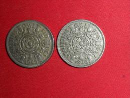 2 Monnaies De 2 Shilings(Les Dates Se Suivent) / 1965 Et 1966 En TTB.+ - Monnaie Pré-décimale (1910-1965)