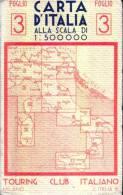 CARTA D´ITALIA -T.C.I. - Anno 1943 -  - Foglio 3 - Mappe