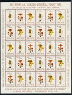 Canada 1984 Mushrooms M/S Pilze Kleinbogen °BX0045 MNH - Pilze
