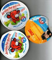 2 Etiquettes + 1 Intercalaire La Vache Qui Rit - Formule Enrichie En Zinc - Fromage