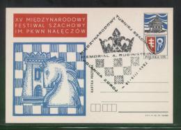 POLAND 1982 (14 AUGUST) (POLANICE ZDROJ) ARTHUR RUBINSTEIN INTERNATIONAL CHESS TOURNAMENT COMM CANCEL ON PC - Schaken