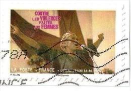 Autoadhésif  N° 418 Contre La Violence Faites Aux Femmes - France