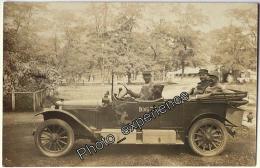 CPA Carte Photo Guerre 14-18 Militaire Voiture Emblème Military Car WW1 - Guerre 1914-18