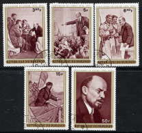 BURUNDI 1970 Lenin Birth Centenary Set Used.  Michel 685-89 - Burundi