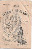1904 Ligue Des Femmes Françaises Brochure Appel à La France Chrétienne Jeanne D'Arc 16 Pages Propagande 14x21cm - Non Classés