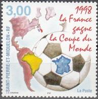 Saint-Pierre & Miquelon 1998 Yvert 683 Neuf ** Cote (2015) 1.70 Euro La France Champion Du Monde De Football - Neufs