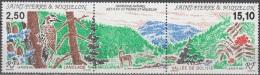 Saint-Pierre & Miquelon 1992 Yvert 568A Neuf ** Cote (2015) 9.20 Euro Ile De Langlade Patrimoine Naturel - Neufs