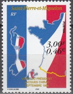 Saint-Pierre & Miquelon 1999 Yvert 703 Neuf ** Cote (2015) 1.75 Euro Visite Du Président Jacques Chirac - Neufs