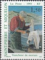 Saint-Pierre & Miquelon 1993 Yvert 576 Neuf ** Cote (2015) 0.80 Euro Le Trancheur De Morue - Neufs