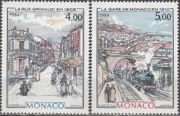Monaco 1984 Yvert 1433 - 1434 Neuf ** Cote (2015) 10.10 Euro Monaco à La Belle époque - Monaco