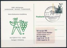 Germany Deutschland Intervitis Wine Stationery Card Wein Postkarte °BL0869 - Wein & Alkohol