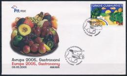 Turkey Türkei CEPT Europa FDC Fruits Gastronomy Mushrooms Pilze Gemüse Obst Rose °BL0909 - Pilze