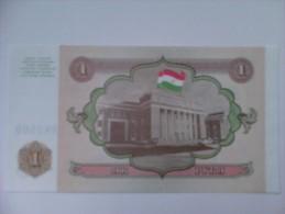 Billete Tajikistán. 1 Rublo. 1994. Sin Circular - Tayikistán