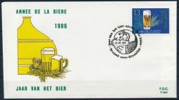 Belgium Belgien FDC Special Postmark Beer Brewery Bier Brauerei °BL0998 - Biere